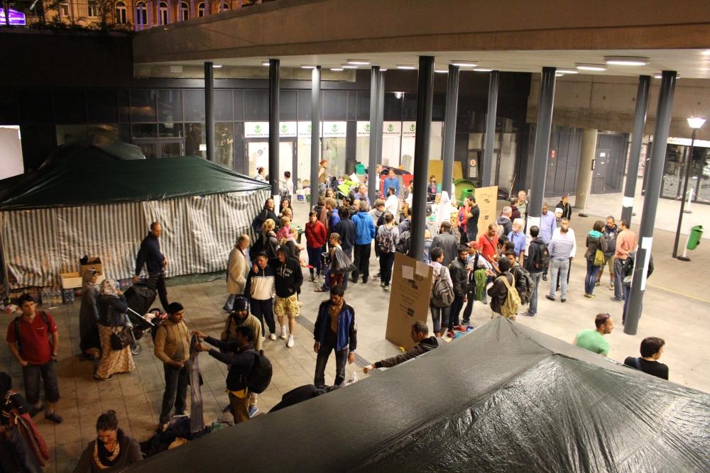 Flüchtlingskrise am Keleti-Bahnhof in Budapest (1/6)